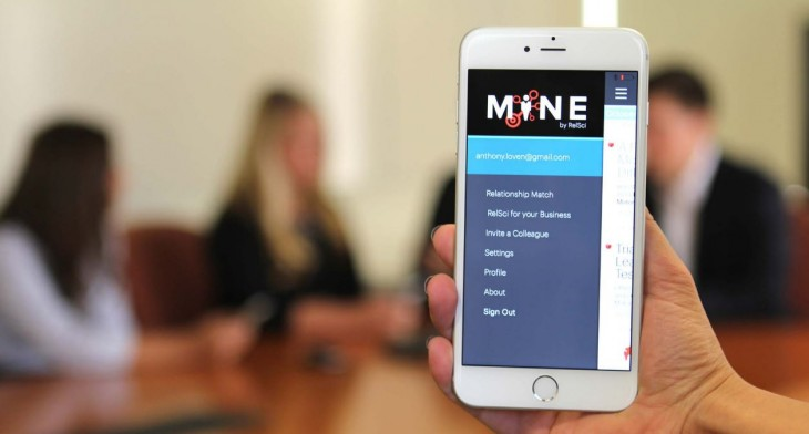 The MINE app lets you keep tabs on news about everybody in your network