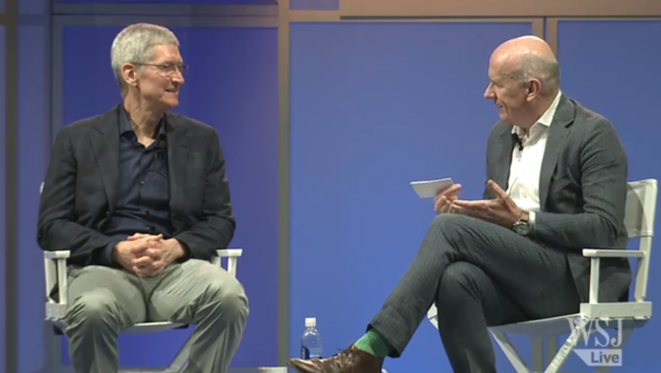Watch Apple CEO Tim Cook's entire WSJD Live interview