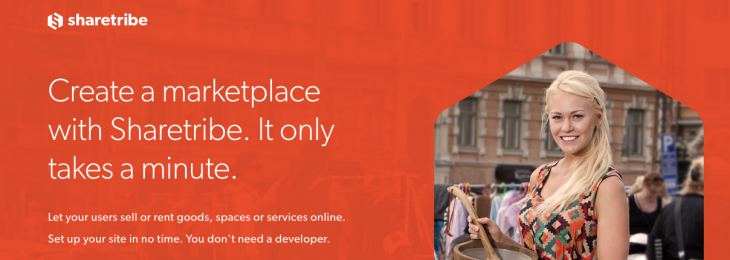 Create your own peer-to-peer marketplace with Sharetribe