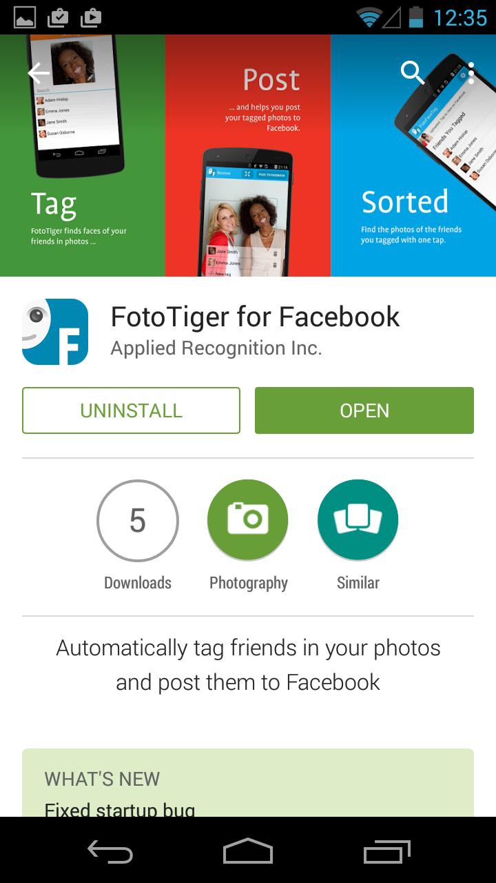 FotoTiger Facial Recognition App Puts the