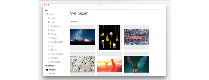Getty Images Stream for Mac brings historic images to your desktop