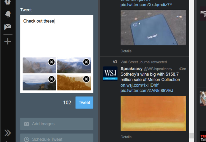 TweetDeck Lets you Add Multiple Photos to Tweets