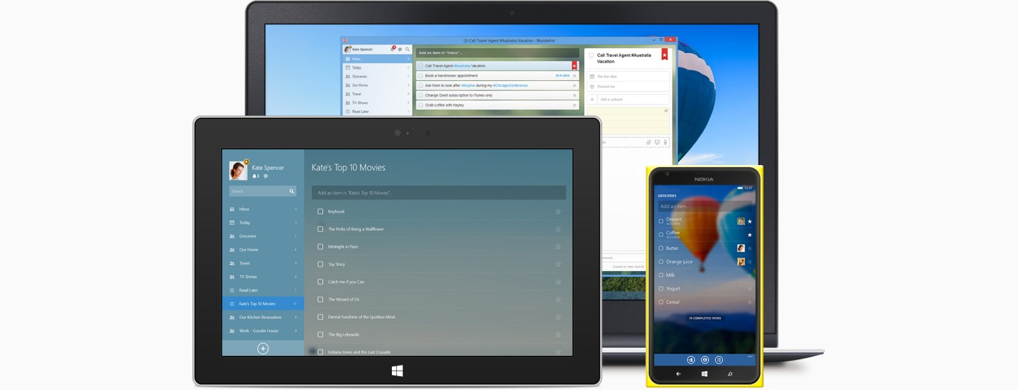 Wunderlist Gives Its Windows and Windows Phone Apps a Refresh, with Better Performance and Viewing Options