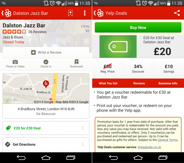 Yelp adds deals and gift certificates for users in UK, France, Germany and Spain