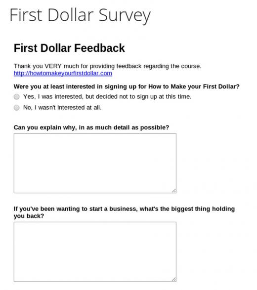first dollar survey