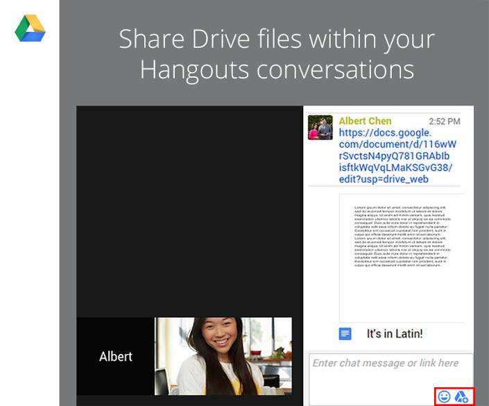 You Can Now Send Google Drive Files in Hangouts Video Calls