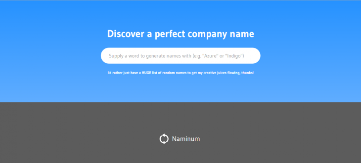 The Best Business Name Generator: Naminum