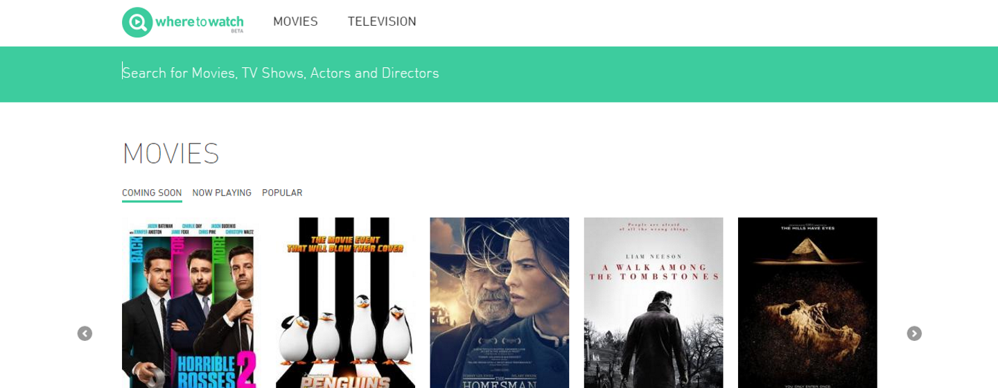 WhereToWatch Helps You Find TV Shows and Movies to Stream Legally