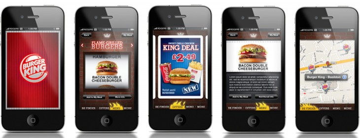 Burger King iPhone and Android apps hit the UK and Ireland