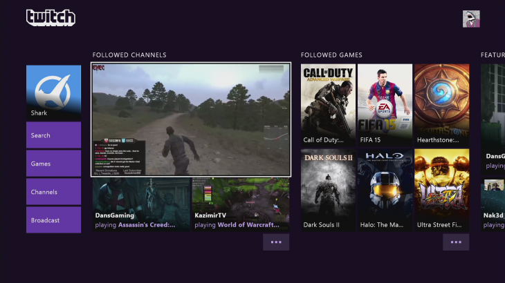 Twitch for Xbox One updated with personalized homescreen, VOD and game directories