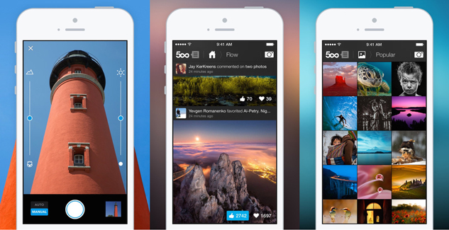 500px iOS app update debuts a new camera and Adobe photo editing tools