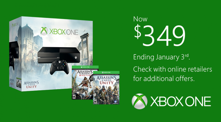 The Xbox One will cost $50 more after January 3