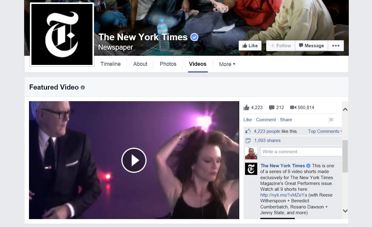 Facebook Pages Are Getting an Updated Video Section