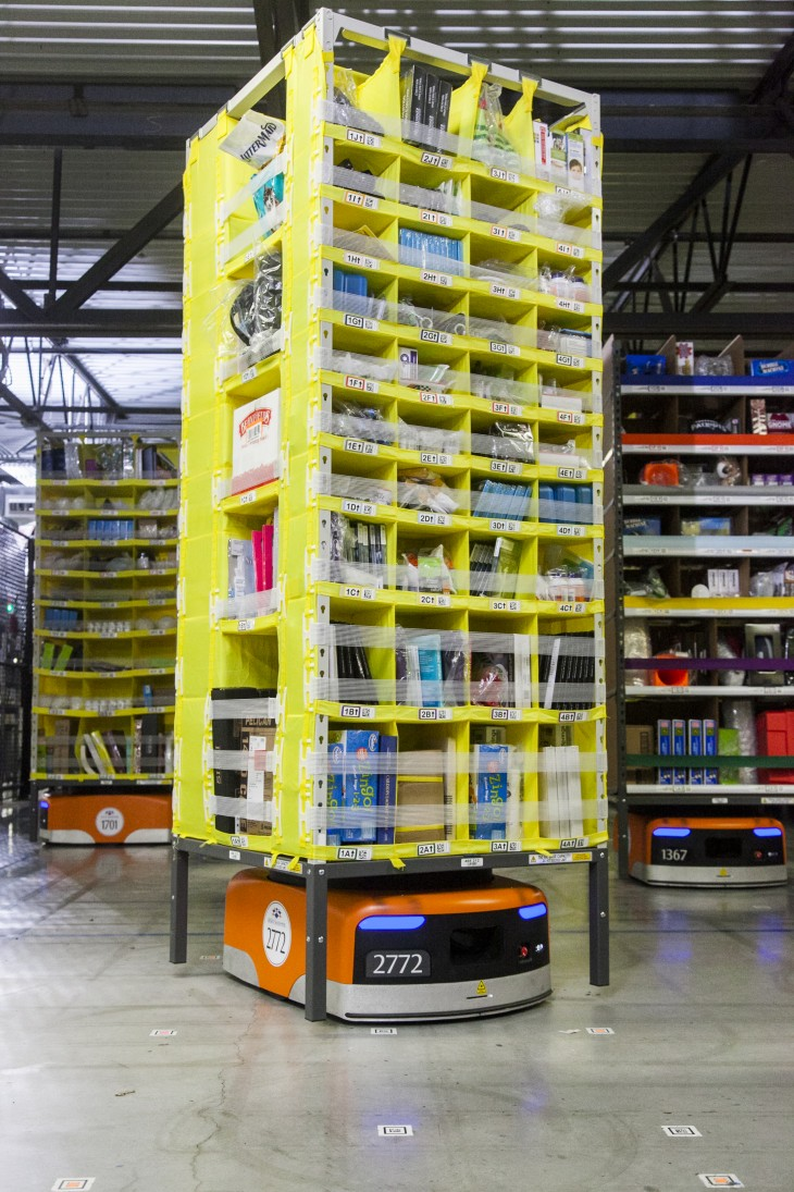 Amazon Unveils New Army Of Warehouse Robots