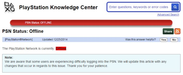 PSN down