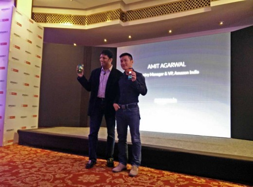 OnePlus CEO Pete Lau and Amazon India Country Manager Amit Agarwal