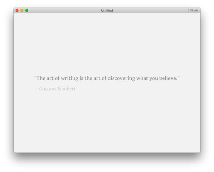 Typed for OS X helps you focus on your writing task