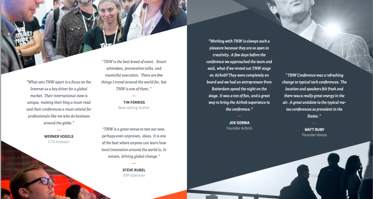 Testimonials for TNW Conference's Info Deck
