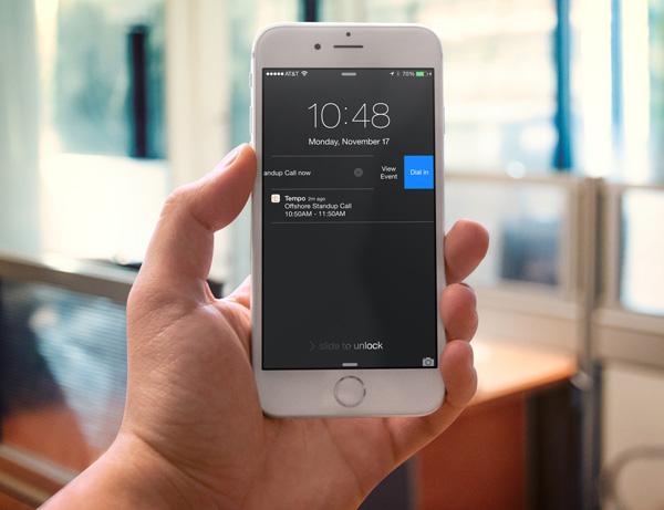 Tempo Interactive notifications
