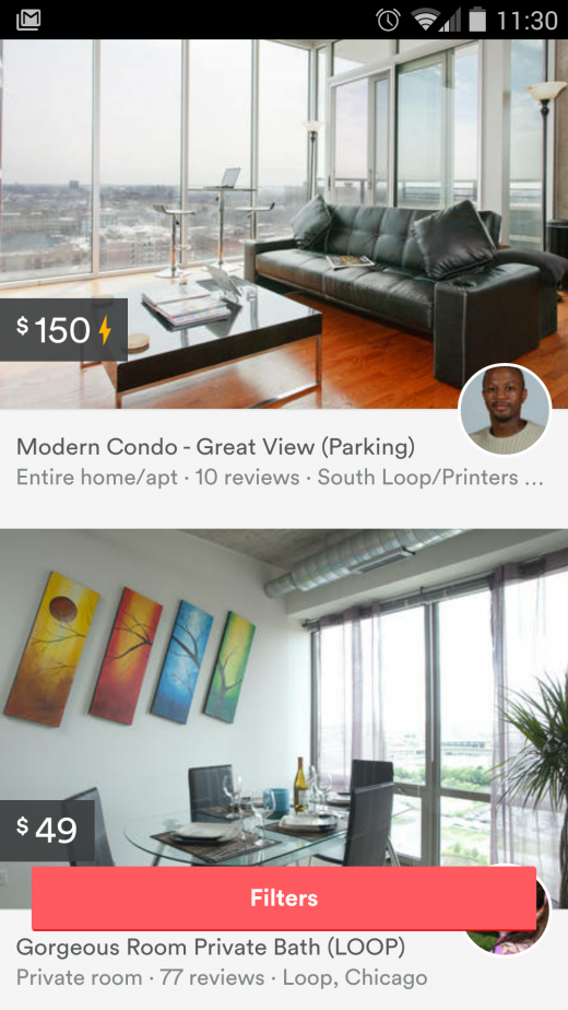 airbnb new design mobile