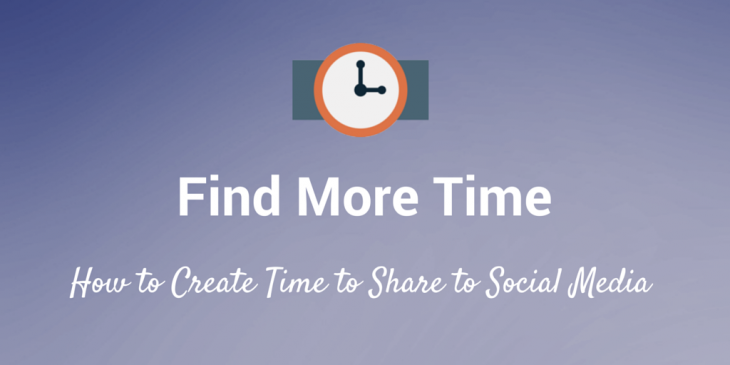 How to share to social media when you don't have time