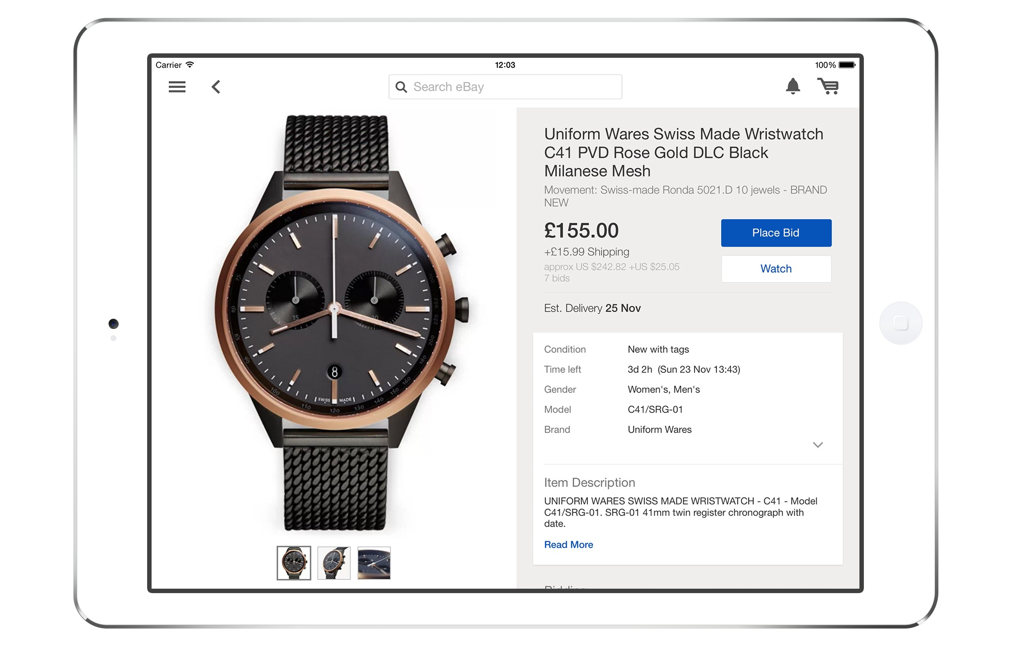Ebay S Ipad App Gets Bigger Images Improved Profiles And A More