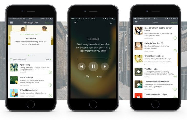 Blinkist's curated mobile reading platform now includes audio capabilities and one free book per ...
