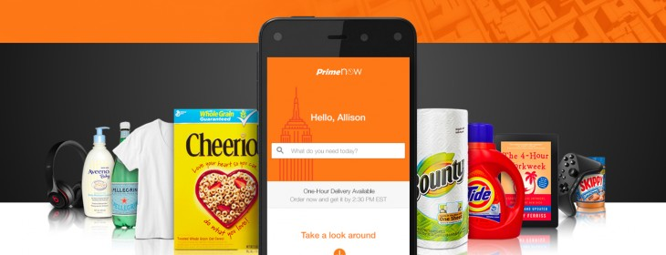 Amazon launches Prime Now: One-hour deliveries of 'daily essentials' in Manhattan