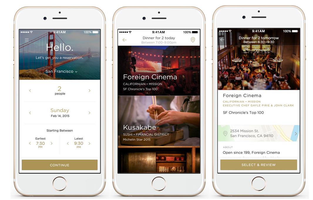UberforRestaurants App Reserve Lands In San Francisco - Restaurant table reservation app