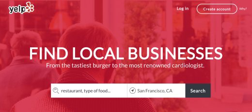 yelp unofficial mockup