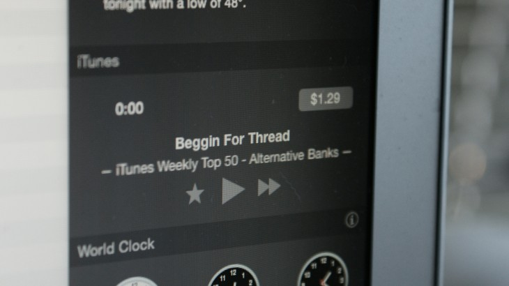 iTunes 12 updated with Yosemite Notification Center Widget