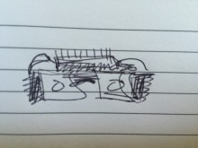 Really bad artist rendering of demo device