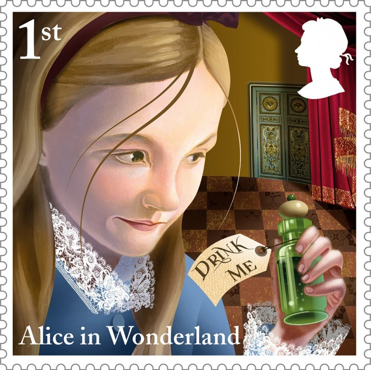 Alice-Drink-Me-1st-Class-stamp-1200