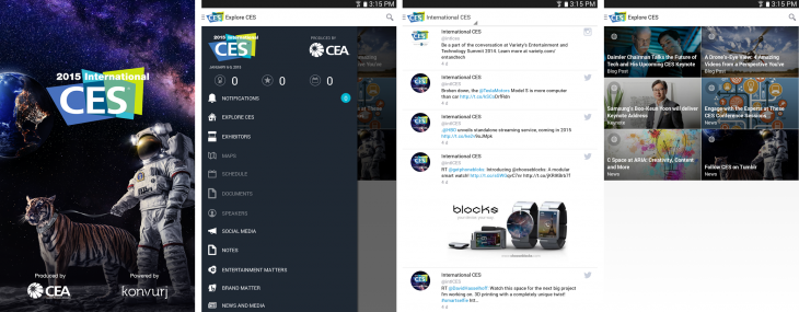At CES 2015? Check out the fully revamped official app for Android and iOS