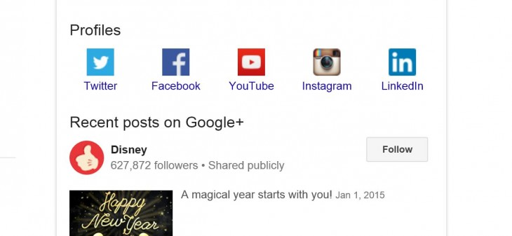 Google Search now directly links you to brands' social profiles