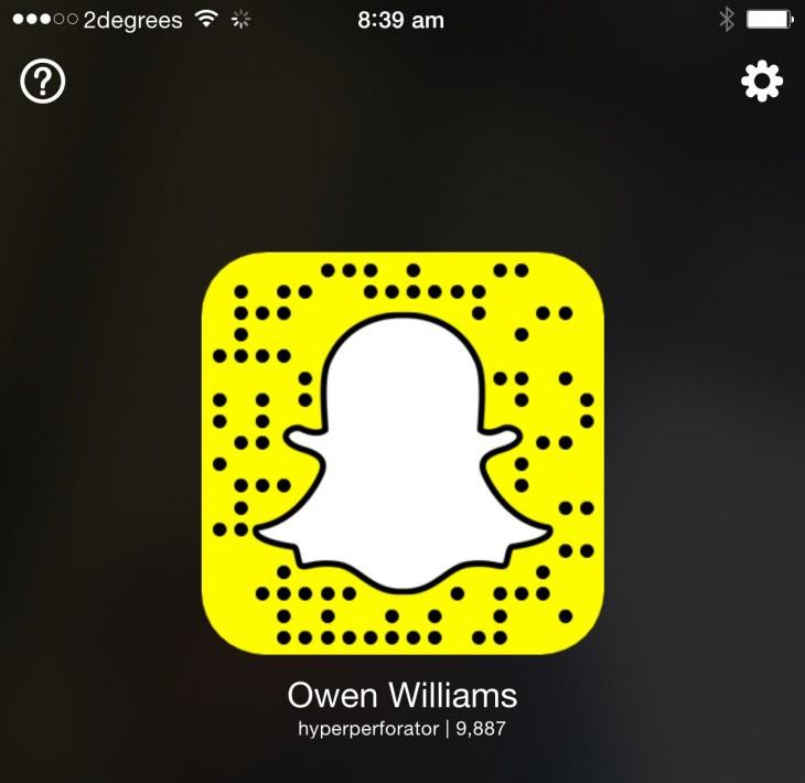 Snapchat secret QR code