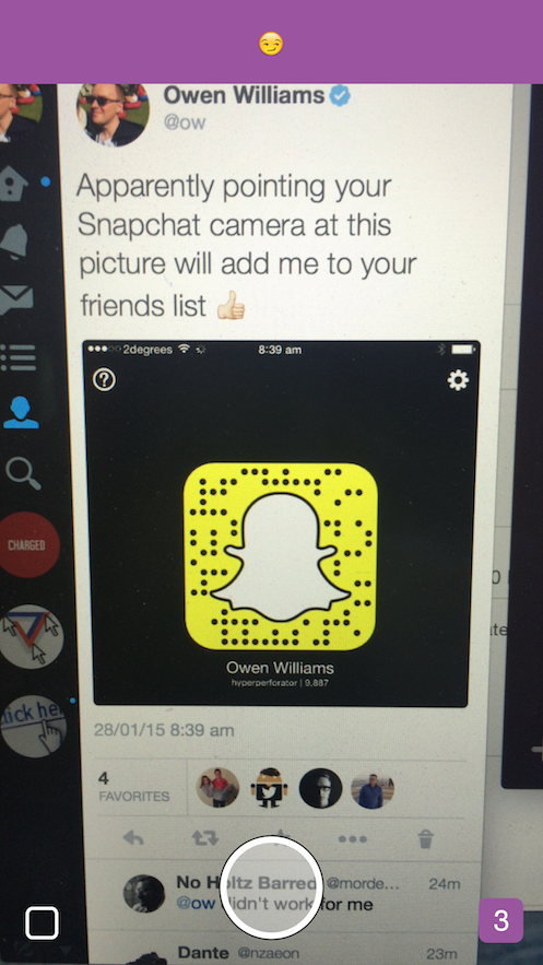 How to add photos to your snapchat