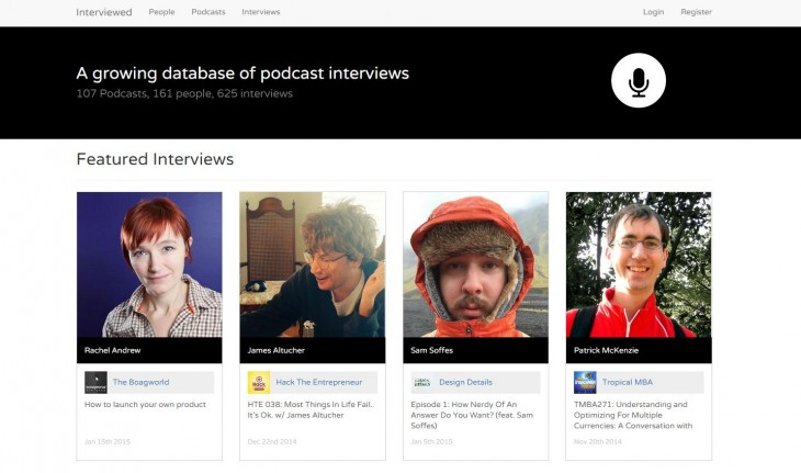 Keep track of the best startup and entrepreneur podcasts with Interviewed.io
