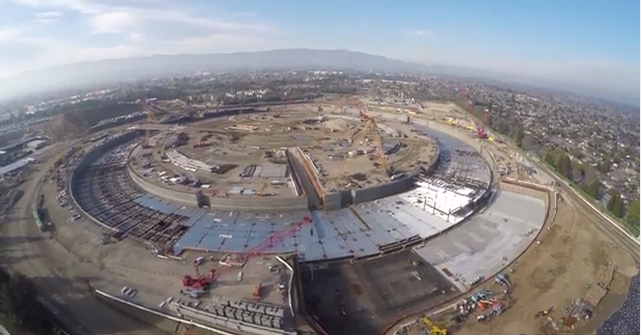 See Apple's huge new 'spaceship' HQ in a 4K drone flyover
