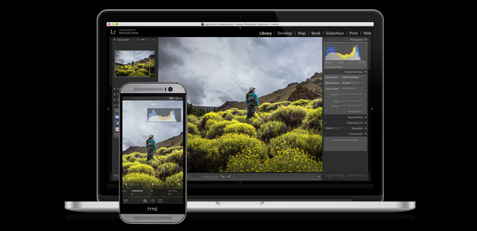 Adobe's new Lightroom Mobile for Android phones works almost the same as the iPhone app; a tablet ...