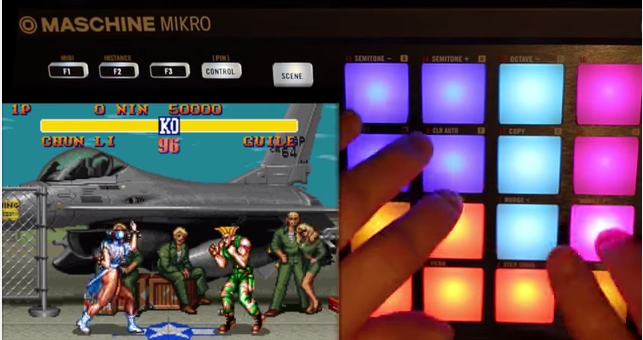 Watch this guy play Streetfighter 2 and drums at the same time