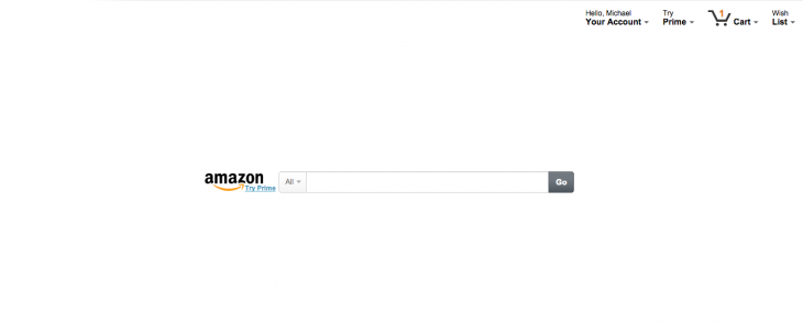 Get a beautifully minimal Amazon homepage with this Chrome extension