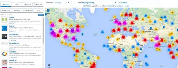 StartupBlink map