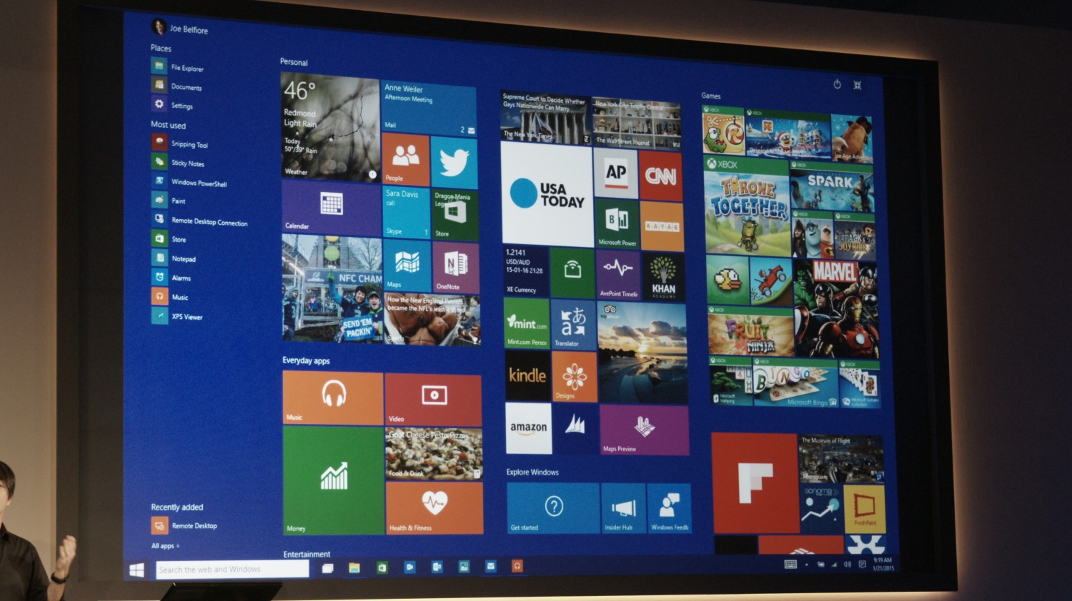 This is Windows 10's Start Screen - The Next Web