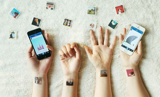 Transform your Instagram photos into mini tattoos and pocket printed albums