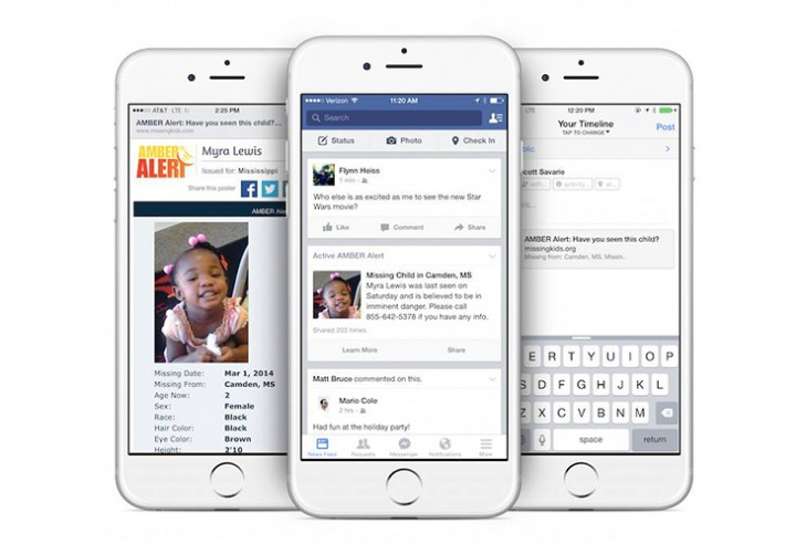Facebook will now show AMBER alerts in US users' News Feeds