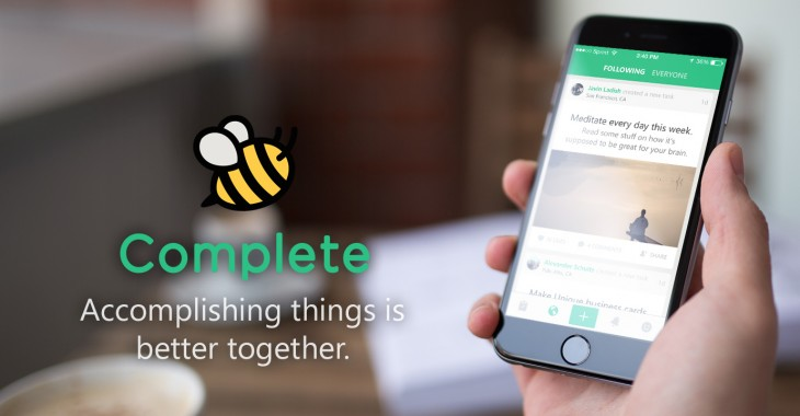 Complete is a new task app where the community helps you get things done