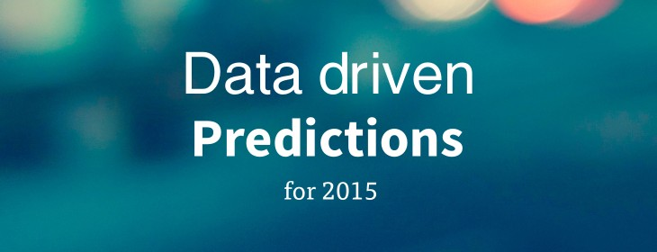 Data-driven predictions for 2015