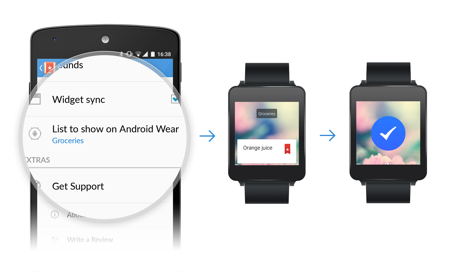 Wunderlist for Android Wear now lets you interact with notifications, dictate to-dos and more