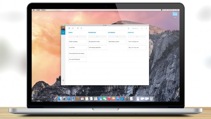 Any.do for Mac brings the to-do list app to the desktop
